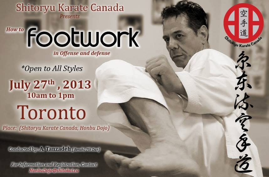 Footwork seminar by Renshi Tanzadeh