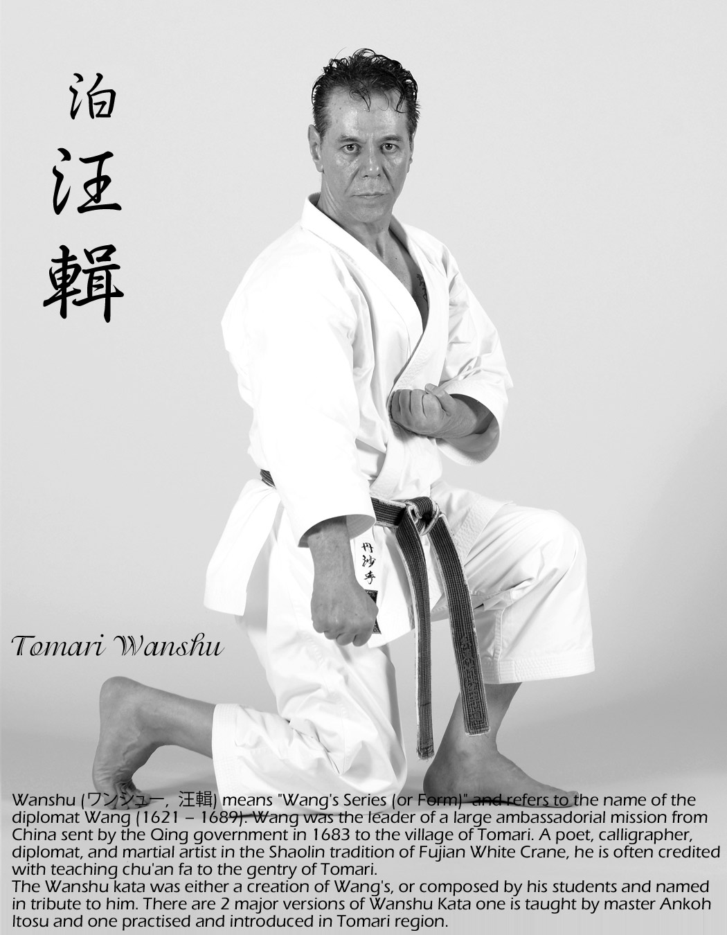 Sensei Tanzadeh performing Tomari Wanshu Kata