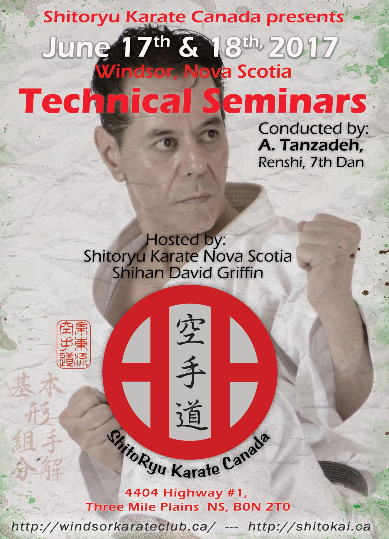 Tanzadeh Shitoryu Seminar Halifax
