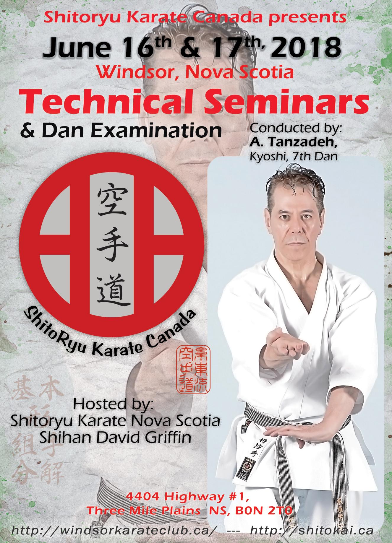 Kyoshi Tanzadeh Technical Seminar - Halifax-June-2018